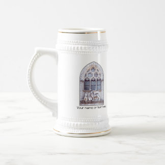 San Marco Winged Lion Stained Glass Window 18 Oz Beer Stein
