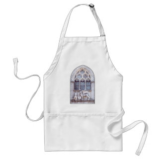 San Marco Winged Lion Stained Glass Window Aprons