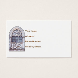 San Marco Winged Lion Stained Glass Window Business Card