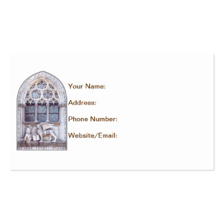 San Marco Winged Lion Stained Glass Window Business Card Template