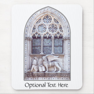 San Marco Winged Lion Stained Glass Window Mouse Pad