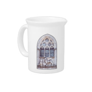 San Marco Winged Lion Stained Glass Window Pitchers