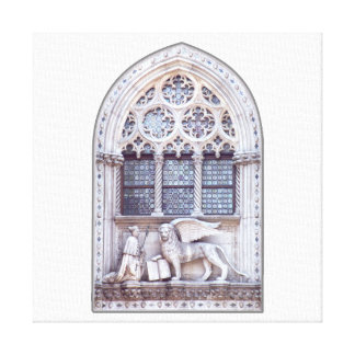 San Marco Winged Lion Window Stretched Canvas Prints