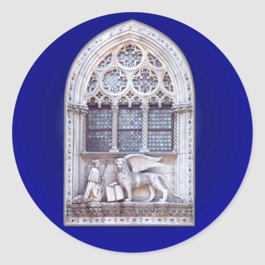 San Marco Winged Lion Window Classic Round Sticker