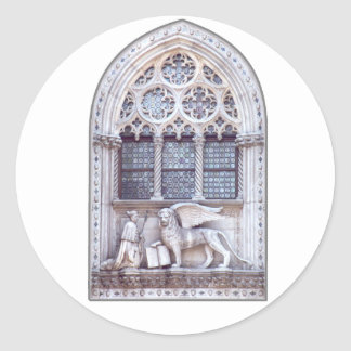 San Marco Winged Lion Window Classic Round Sticker