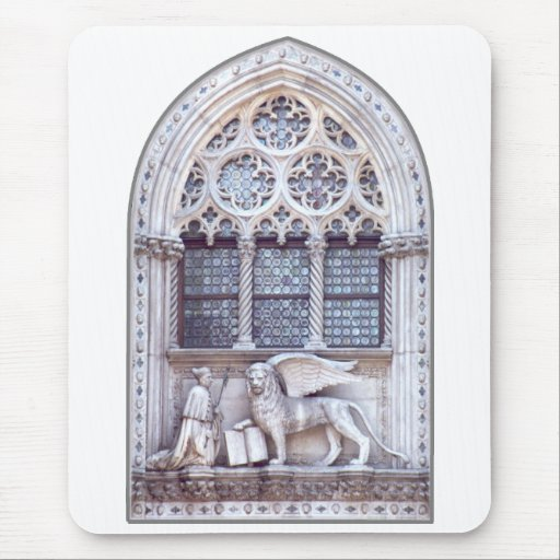 San Marco Winged Lion Window Mouse Pad