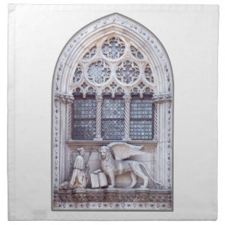 San Marco Winged Lion Window Printed Napkins