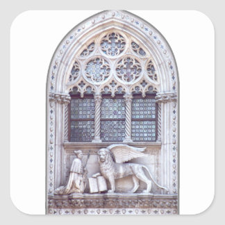 San Marco Winged Lion Window Square Sticker