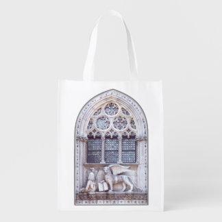 San Marco y león con alas Venecia Italia Bolsa De La Compra