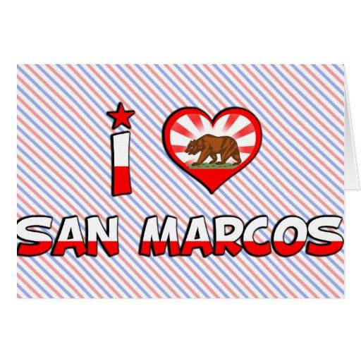 San Marcos, CA Tarjeta De Felicitación