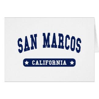 San Marcos California College Style tee shirts Card