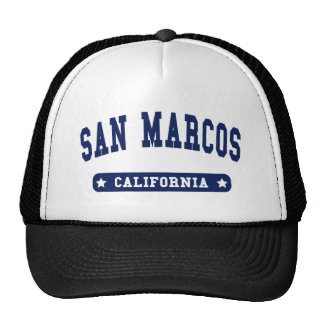 San Marcos California College Style tee shirts Trucker Hat
