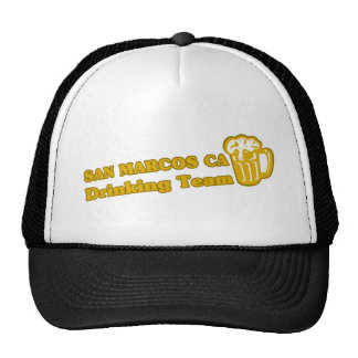 San Marcos Drinking Team tee shirts Trucker Hat