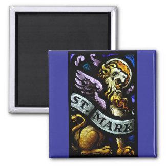 San Marcos el arte del vitral del evangelista Imanes
