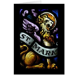 San Marcos el arte del vitral del evangelista Tarjeta