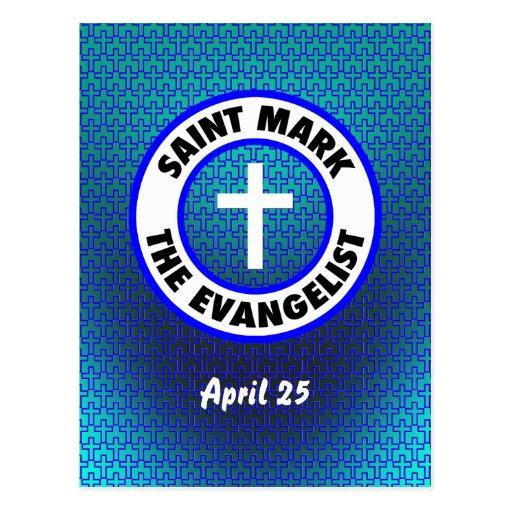 San Marcos el evangelista Postal