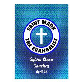 San Marcos que el evangelista invita Invitación 12,7 X 17,8 Cm