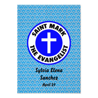 """San Marcos que el evangelista invita Invitación 5"""" X 7"""""""