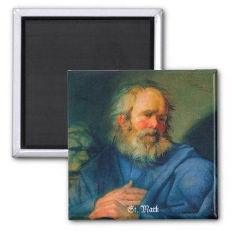 San Marcos - retrato de un evangelista Imán Cuadrado