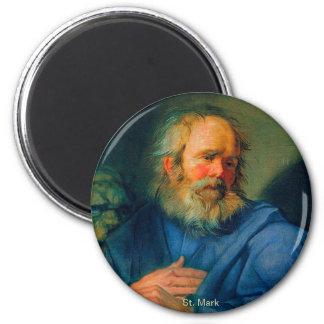 San Marcos - retrato de un evangelista Imán Redondo 5 Cm