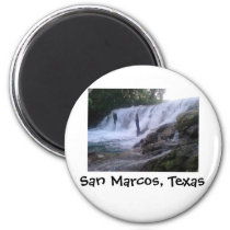 San Marcos River Falls Button Magnet
