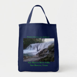 San Marcos River Falls Grocery Tote