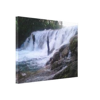 San Marcos River Falls Stretched Canvas Print