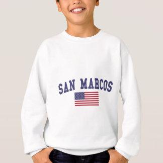 San Marcos TX US Flag Sweatshirt
