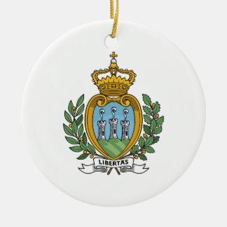 San Marino Coat of Arms Ceramic Ornament