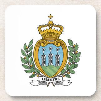 San Marino Coat of Arms Drink Coaster