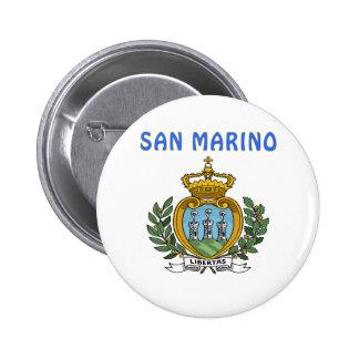 SAN MARINO Coat Of Arms Pinback Button