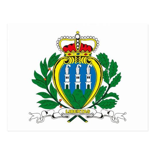 San Marino Coat of Arms Postcard