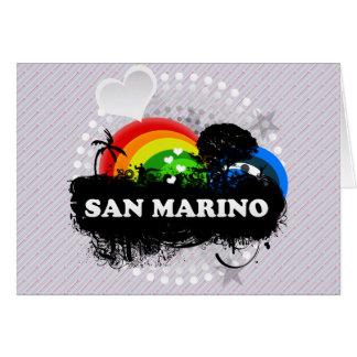San Marino con sabor a fruta lindo Tarjeta De Felicitación