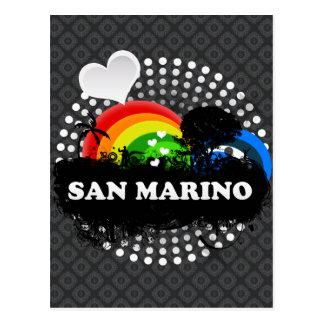 San Marino con sabor a fruta lindo Postal