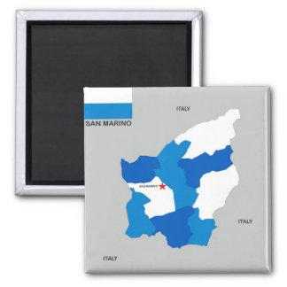 san marino country map flag magnet