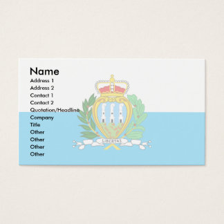 San Marino Flag Business Card