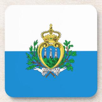 San Marino Flag Drink Coaster