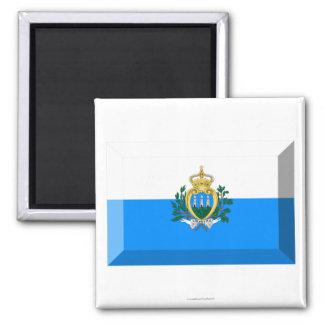 San Marino Flag Jewel Magnet
