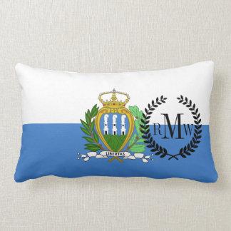 San Marino Flag Lumbar Pillow