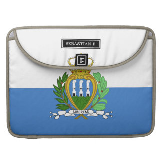 San Marino Flag MacBook Pro Sleeve