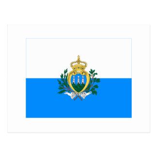 San Marino Flag Post Card
