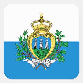 San Marino Flag Square Sticker