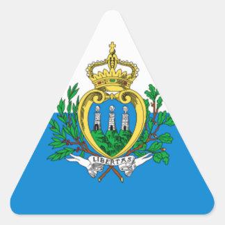 San Marino Flag Triangle Sticker