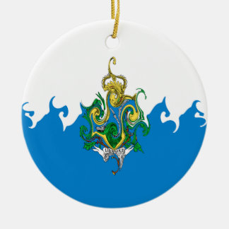 San Marino Gnarly Flag Ceramic Ornament