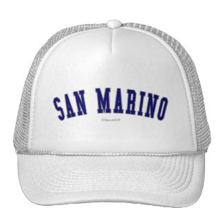San Marino Gorros Bordados