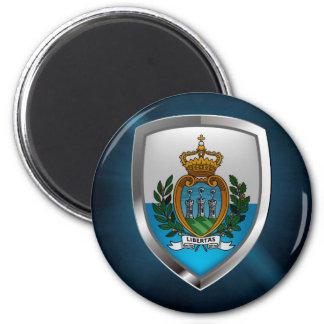 San Marino Metallic Emblem Magnet