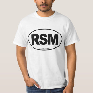 San Marino RSM Oval ID Identification Initials T-Shirt