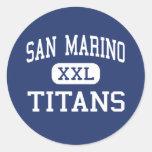 San Marino - titanes - alto - San Marino Pegatina Redonda
