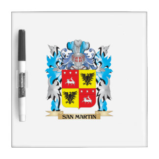 San-Martin Coat of Arms - Family Crest Dry Erase Whiteboards