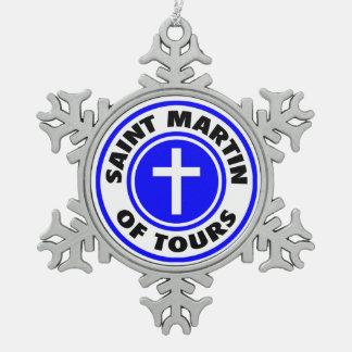 San Martín de viajes Adorno De Peltre En Forma De Copo De Nieve